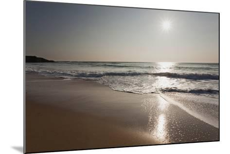 Surf at Constantine Bay, Shortly before Sunset, Near Padstow, Cornwall-Nigel Hicks-Mounted Photographic Print