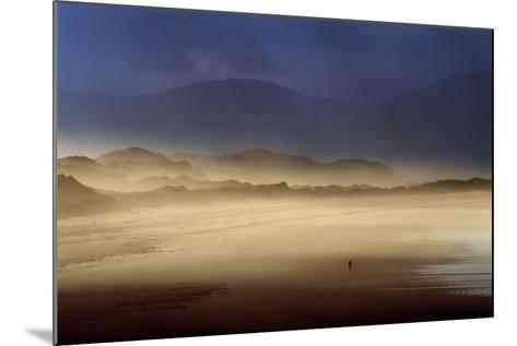 A Lone Walker on Inch Strand of Dingle Bay, County Kerry, Ireland-Chris Hill-Mounted Photographic Print
