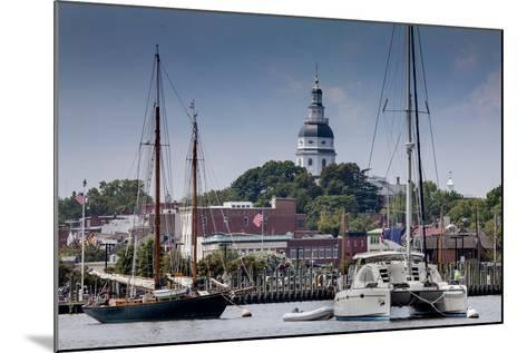 Downtown Annapolis and the State Capitol Dome Seen from the Waterfront-Kent Kobersteen-Mounted Photographic Print