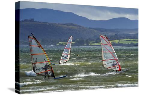 Windsurfing at Downings Sheephaven Bay, Donegal, Ireland-Chris Hill-Stretched Canvas Print