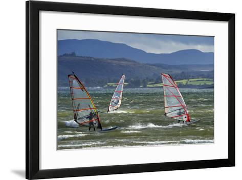 Windsurfing at Downings Sheephaven Bay, Donegal, Ireland-Chris Hill-Framed Art Print
