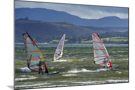 Windsurfing at Downings Sheephaven Bay, Donegal, Ireland-Chris Hill-Mounted Photographic Print