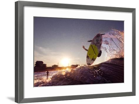 A Young Man Surfing on the Outer Banks of North Carolina-Chris Bickford-Framed Art Print