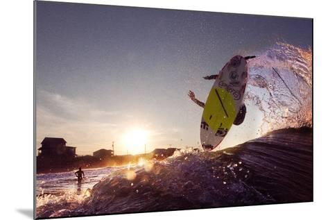 A Young Man Surfing on the Outer Banks of North Carolina-Chris Bickford-Mounted Photographic Print