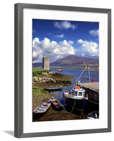 Granuaile's Tower, Kildavnet Castle, Achill Island, County Mayo, Ireland-Chris Hill-Framed Art Print