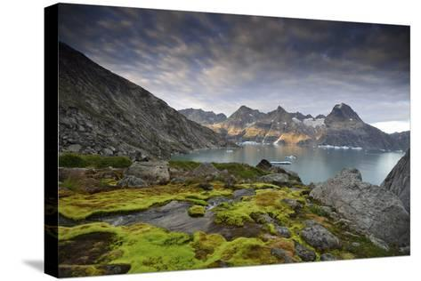 Moss-Covered Stones on a Mountainous Fjord Coast at Sunset-Keith Ladzinski-Stretched Canvas Print
