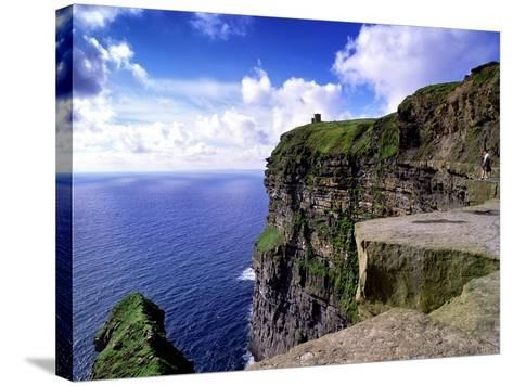 O'Brien's Tower on the Cliffs of Moher, County Clare, Ireland-Chris Hill-Stretched Canvas Print