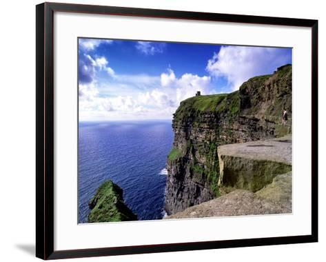O'Brien's Tower on the Cliffs of Moher, County Clare, Ireland-Chris Hill-Framed Art Print