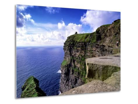 O'Brien's Tower on the Cliffs of Moher, County Clare, Ireland-Chris Hill-Metal Print