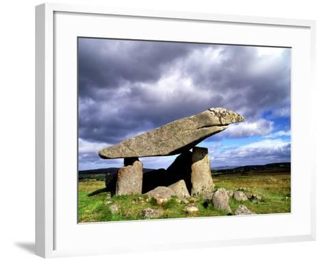 Kilclooney More Portal Tomb, in County Donegal, Ireland-Chris Hill-Framed Art Print