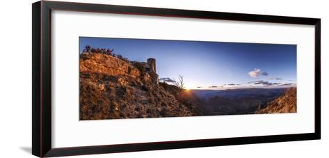 Tourists Watch Sunset over the Grand Canyon, the Longest Canyon on Earth-Babak Tafreshi-Framed Art Print