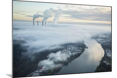 Steam and Smoke Rise from the Cooling Towers and Chimneys of a Power Plant-Robb Kendrick-Mounted Photographic Print