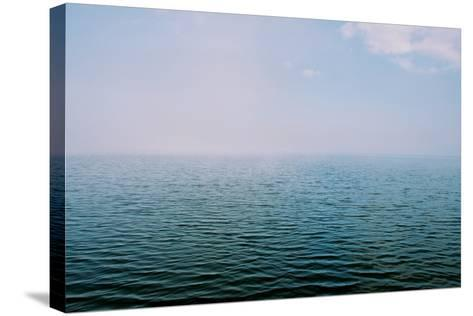 The Surface of the Water Is Rippled across a Large Lake-Heather Perry-Stretched Canvas Print