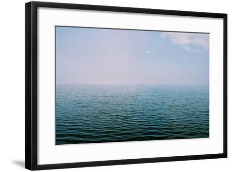 The Surface of the Water Is Rippled across a Large Lake-Heather Perry-Framed Art Print