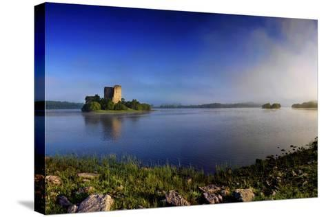 Cloughoughter Castle on Lough Oughter in County Cavan, Ireland-Chris Hill-Stretched Canvas Print