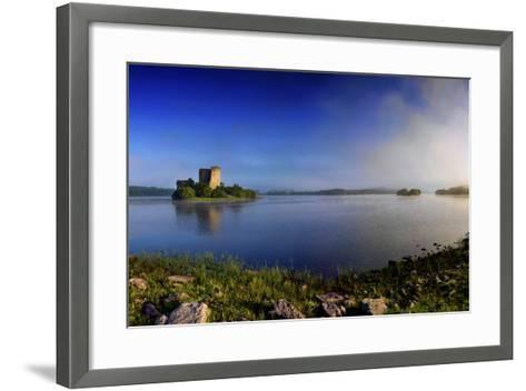 Cloughoughter Castle on Lough Oughter in County Cavan, Ireland-Chris Hill-Framed Art Print