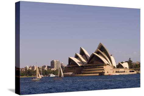A View of the Sydney Opera House from across the Harbor-Sergio Pitamitz-Stretched Canvas Print