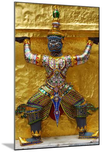 An Ornate Carving of a Mythological God Holding Up a Golden Wall-Darlyne A^ Murawski-Mounted Photographic Print