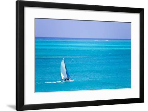 Sail Boaters Enjoying the Turquoise Waters of Grace Bay, in the Turks and Caicos Islands-Mike Theiss-Framed Art Print