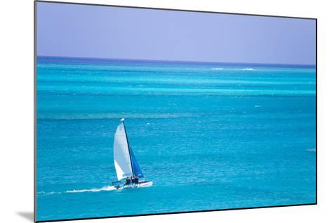 Sail Boaters Enjoying the Turquoise Waters of Grace Bay, in the Turks and Caicos Islands-Mike Theiss-Mounted Photographic Print