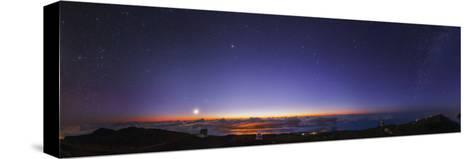 A 300-Degree Panorama of the Night Sky Above Some of the World's Major Telescopes-Babak Tafreshi-Stretched Canvas Print