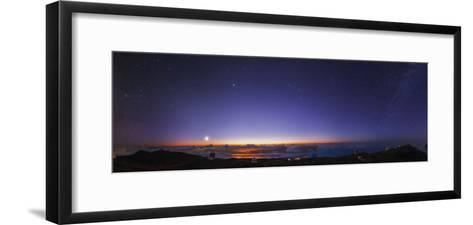 A 300-Degree Panorama of the Night Sky Above Some of the World's Major Telescopes-Babak Tafreshi-Framed Art Print