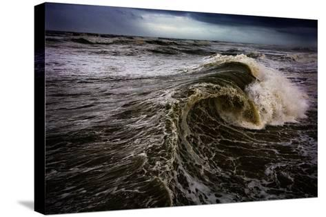 Rough Waves Break Just Off the Outer Banks in North Carolina-Chris Bickford-Stretched Canvas Print