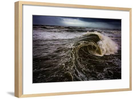 Rough Waves Break Just Off the Outer Banks in North Carolina-Chris Bickford-Framed Art Print