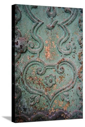 Paint Peels from a Green Painted Iron Door Panel of the Monasterio De Santa Catalina-Beth Wald-Stretched Canvas Print