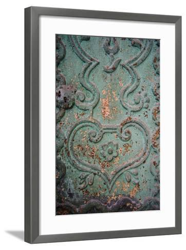 Paint Peels from a Green Painted Iron Door Panel of the Monasterio De Santa Catalina-Beth Wald-Framed Art Print