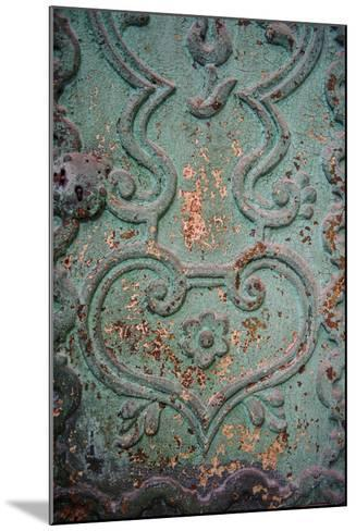 Paint Peels from a Green Painted Iron Door Panel of the Monasterio De Santa Catalina-Beth Wald-Mounted Photographic Print