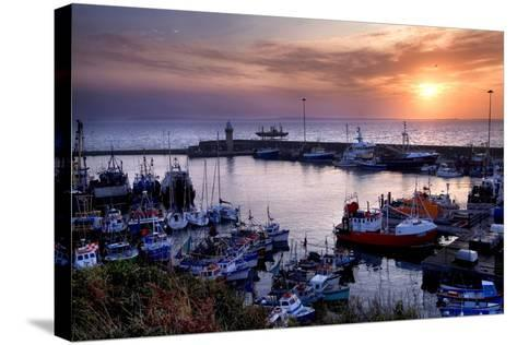 Dunmore East Harbor in Waterford, Ireland-Chris Hill-Stretched Canvas Print