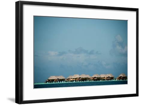 Vacation Cottages over Water on Bora Bora-Karen Kasmauski-Framed Art Print