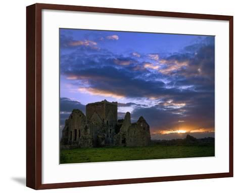 Sunset at Hore Abbey in Tipperary-Chris Hill-Framed Art Print