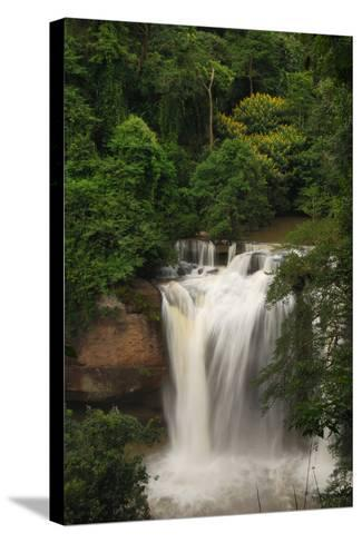 The Haew Suwat Waterfall in a Scenic Wooded Setting-Darlyne A^ Murawski-Stretched Canvas Print