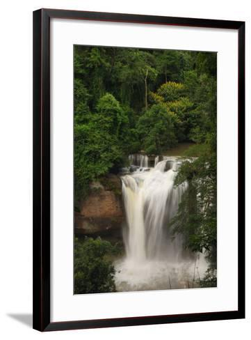 The Haew Suwat Waterfall in a Scenic Wooded Setting-Darlyne A^ Murawski-Framed Art Print