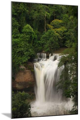 The Haew Suwat Waterfall in a Scenic Wooded Setting-Darlyne A^ Murawski-Mounted Photographic Print