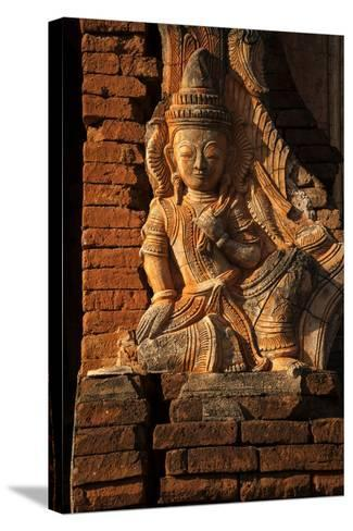 A Relief Carving at One of the Shwe Inn Thein Pagodas-Tino Soriano-Stretched Canvas Print