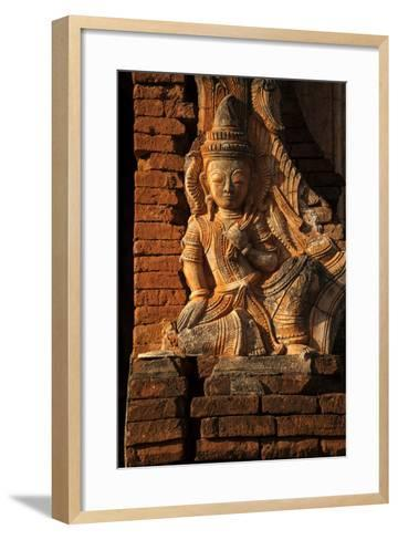 A Relief Carving at One of the Shwe Inn Thein Pagodas-Tino Soriano-Framed Art Print