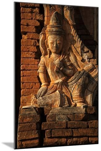 A Relief Carving at One of the Shwe Inn Thein Pagodas-Tino Soriano-Mounted Photographic Print