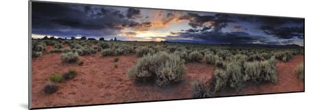 A Panoramic Desert Landscape at Sunset-Keith Ladzinski-Mounted Photographic Print