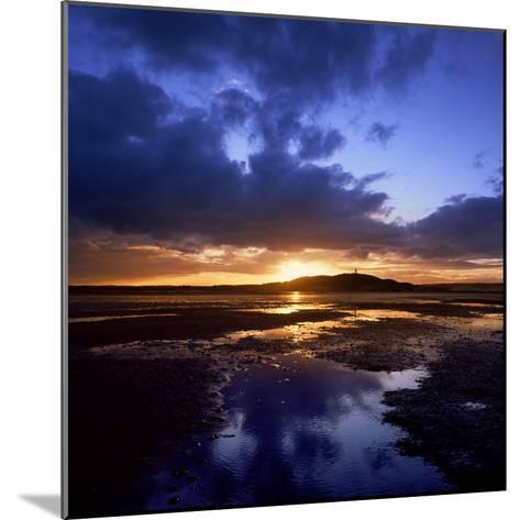 Sunset over Scrabo Tower on Strangford Lough-Chris Hill-Mounted Photographic Print