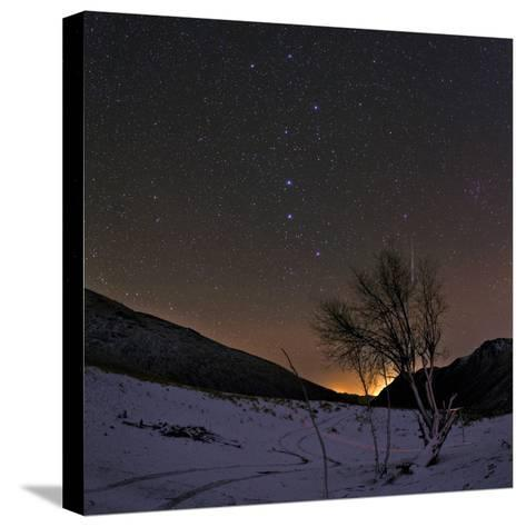 A Bright Meteor Streaks the Sky Near the Big Dipper-Babak Tafreshi-Stretched Canvas Print