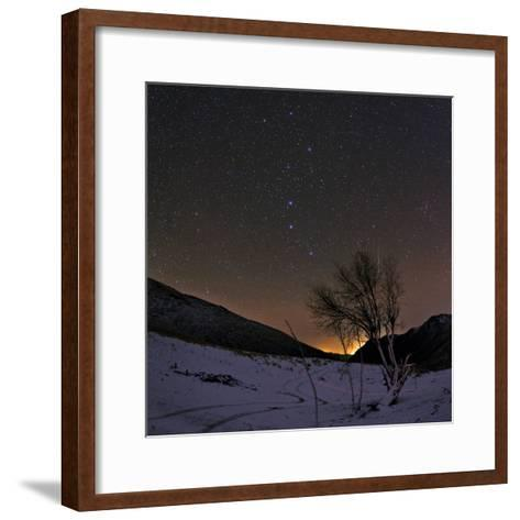 A Bright Meteor Streaks the Sky Near the Big Dipper-Babak Tafreshi-Framed Art Print