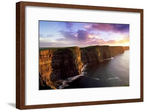 Sunset on the Cliffs of Moher, County Clare, Ireland-Chris Hill-Framed Art Print
