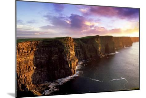 Sunset on the Cliffs of Moher, County Clare, Ireland-Chris Hill-Mounted Photographic Print