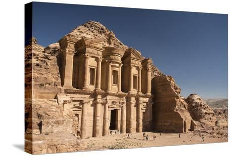 The Monastery, or Al Deir, in Petra-Michael Melford-Stretched Canvas Print