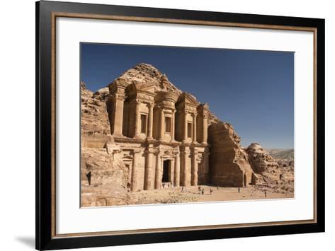 The Monastery, or Al Deir, in Petra-Michael Melford-Framed Art Print