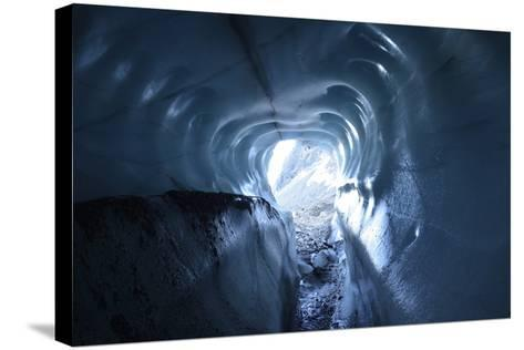 A Tunnel of Melt-Sculpted Blue Glacier Ice-Keith Ladzinski-Stretched Canvas Print