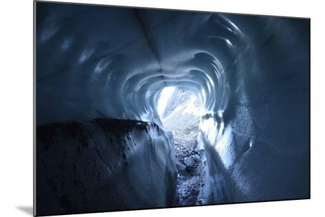 A Tunnel of Melt-Sculpted Blue Glacier Ice-Keith Ladzinski-Mounted Photographic Print